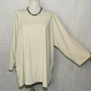 Susan Graver Butterknit 3/4 Sleeve Top 2x K236